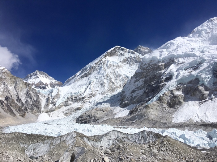 Base Camp and Khumbu Falls